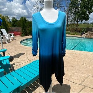 Philosophy Blue Dye Dipped Top size medium